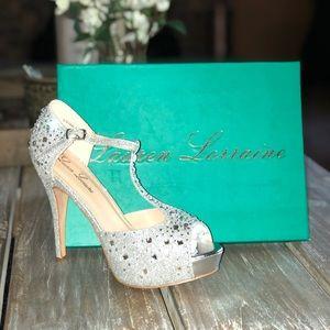 Silver Sparkle Platform Heel